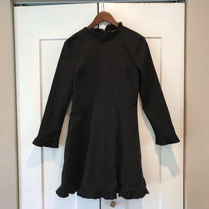 Zara black ruffled mini dress